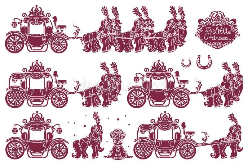 Vecteur Cinderella Carriage illustration libre de droits