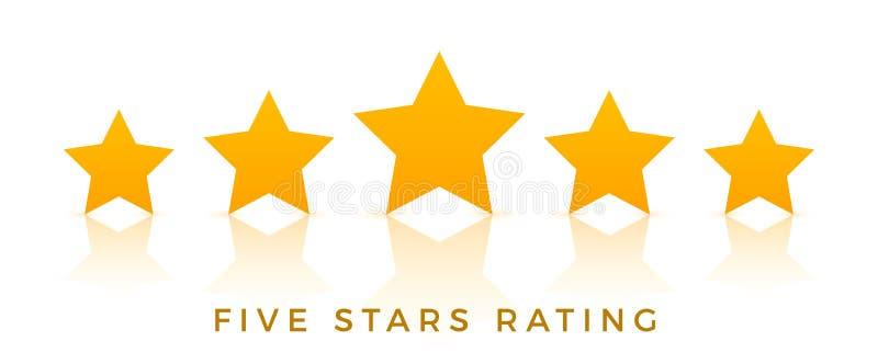 vecteur cinq étoiles d'icône d'estimation Le vote de taux aiment ranger le symbole illustration de vecteur