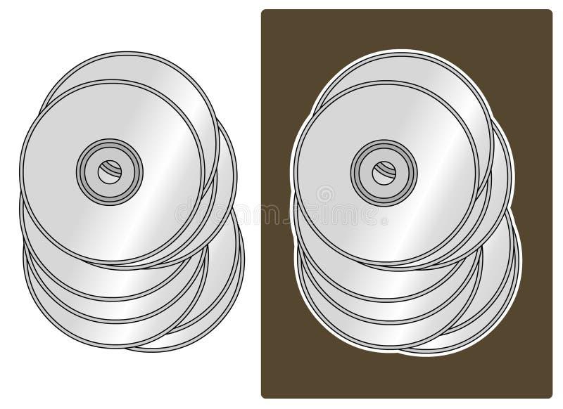 Vecteur - collection CD illustration libre de droits