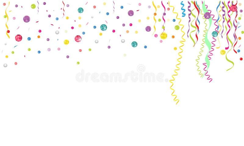 Vecteur coloré de fond de confettis et de gemmes illustration de vecteur