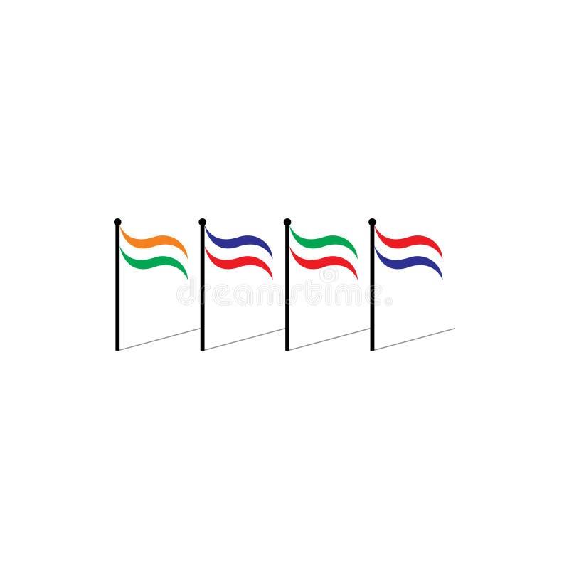 Vecteur coloré de symbole de nations de drapeaux illustration de vecteur