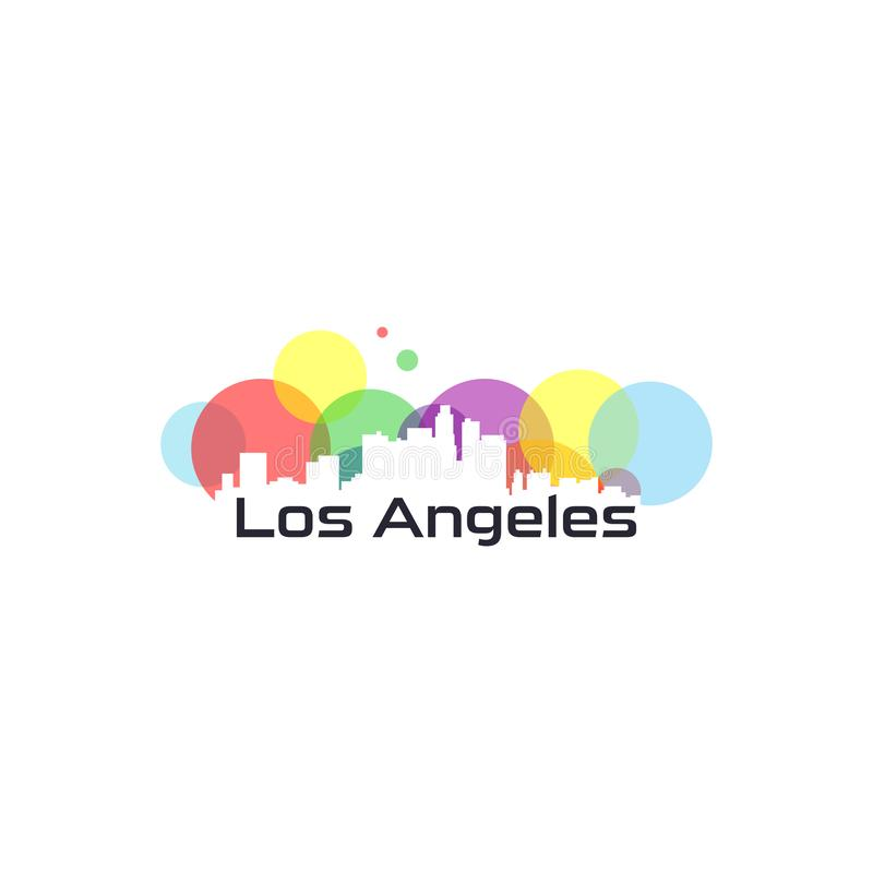 Vecteur coloré de ville des Etats-Unis illustration de vecteur