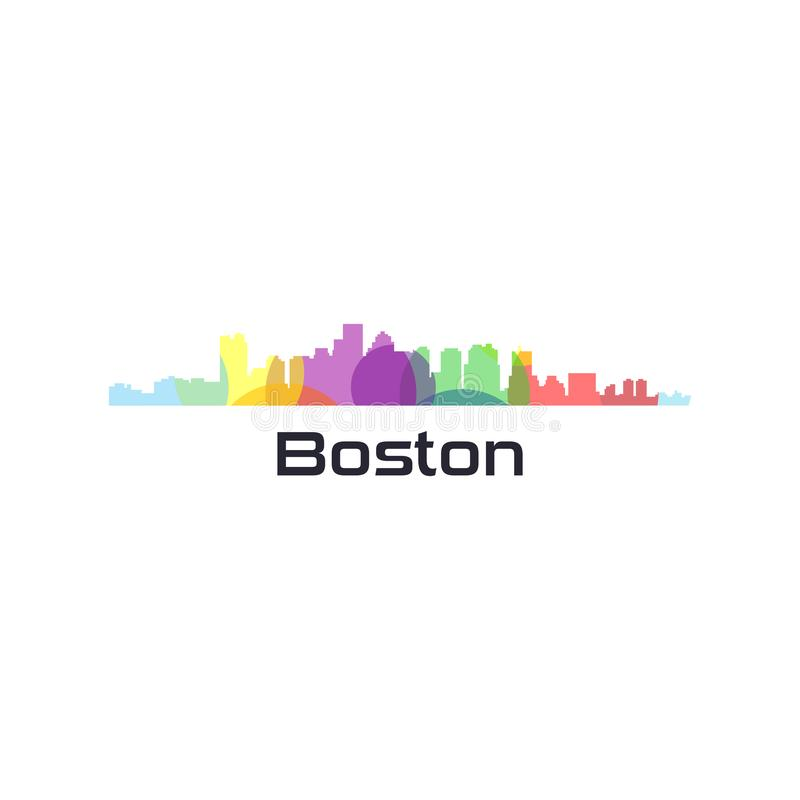 Vecteur coloré de ville des Etats-Unis illustration stock