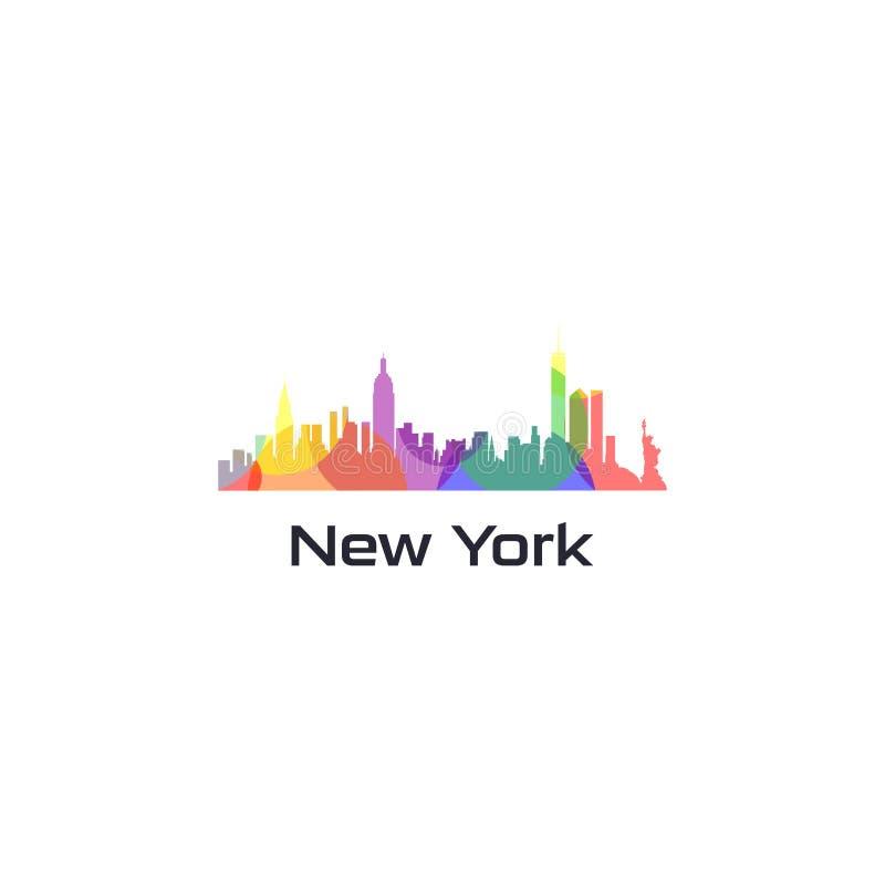 Vecteur coloré de ville des Etats-Unis illustration libre de droits