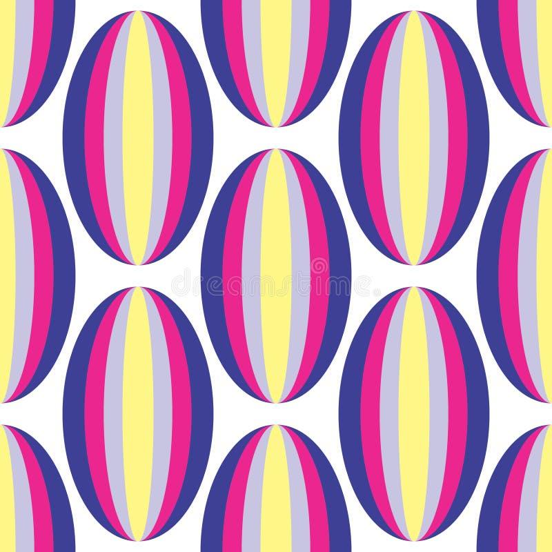 Vecteur coloré sans couture géométrique de conception de forme ovale - ENV disponible photo stock