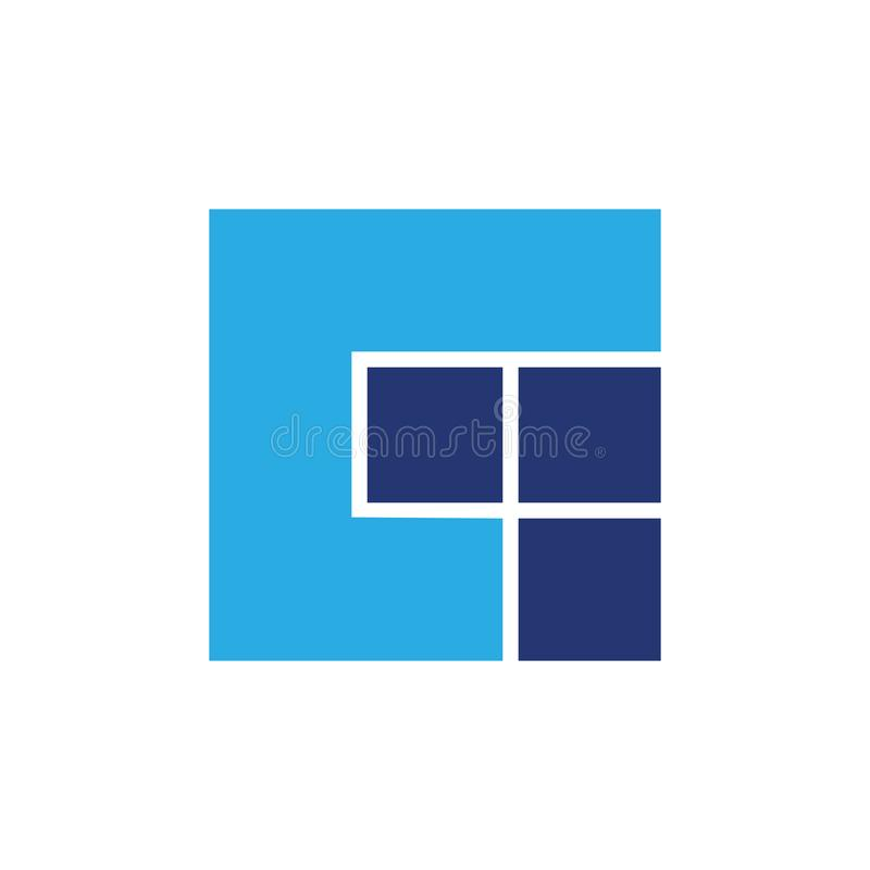 Vecteur coloré simple de logo de place abstraite de la lettre g illustration stock