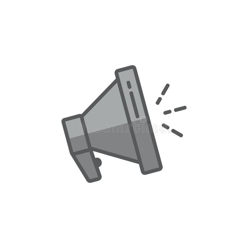 Vecteur color? de logo de symbole de haut-parleur de m?gaphone illustration stock