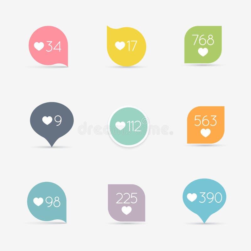Vecteur comme le contre- ensemble d'icône de bouton Communication et réseau, illustration de vecteur