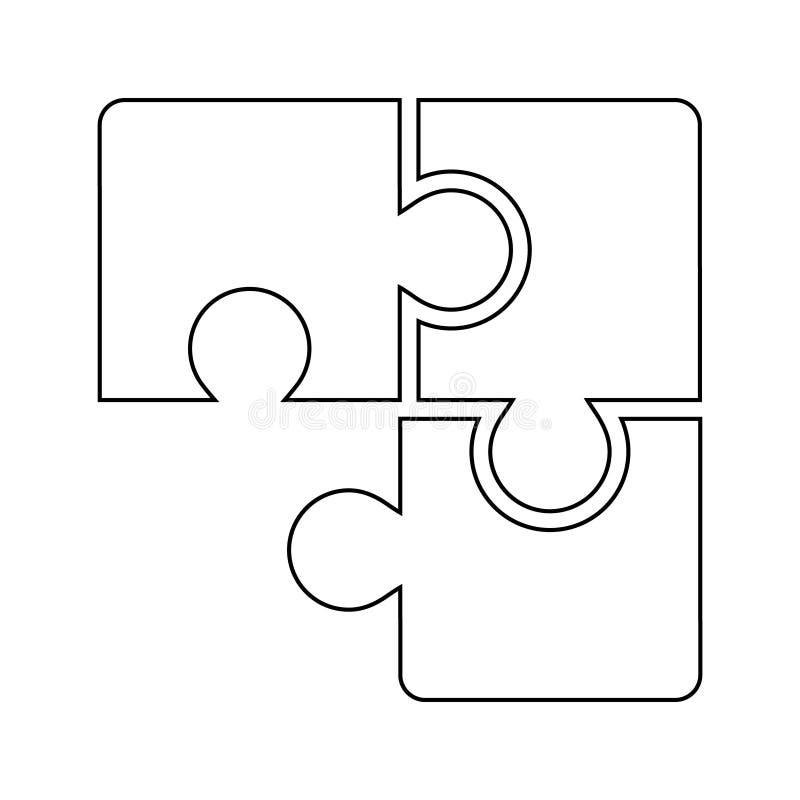 Vecteur compatible d'icône de puzzle Illustration denteuse d'accord Logo de solution de coopération illustration stock
