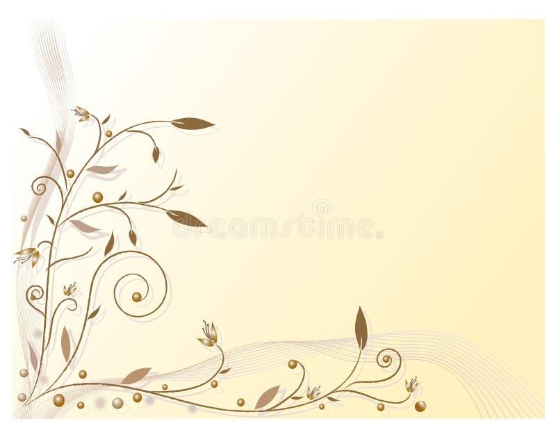 Vecteur, configuration, centrales, fleurs illustration libre de droits