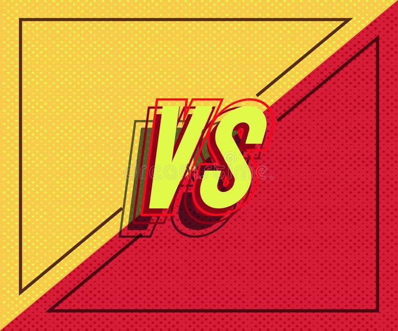 Vecteur contre la bannière avec le cadre pour la bataille illustration de vecteur