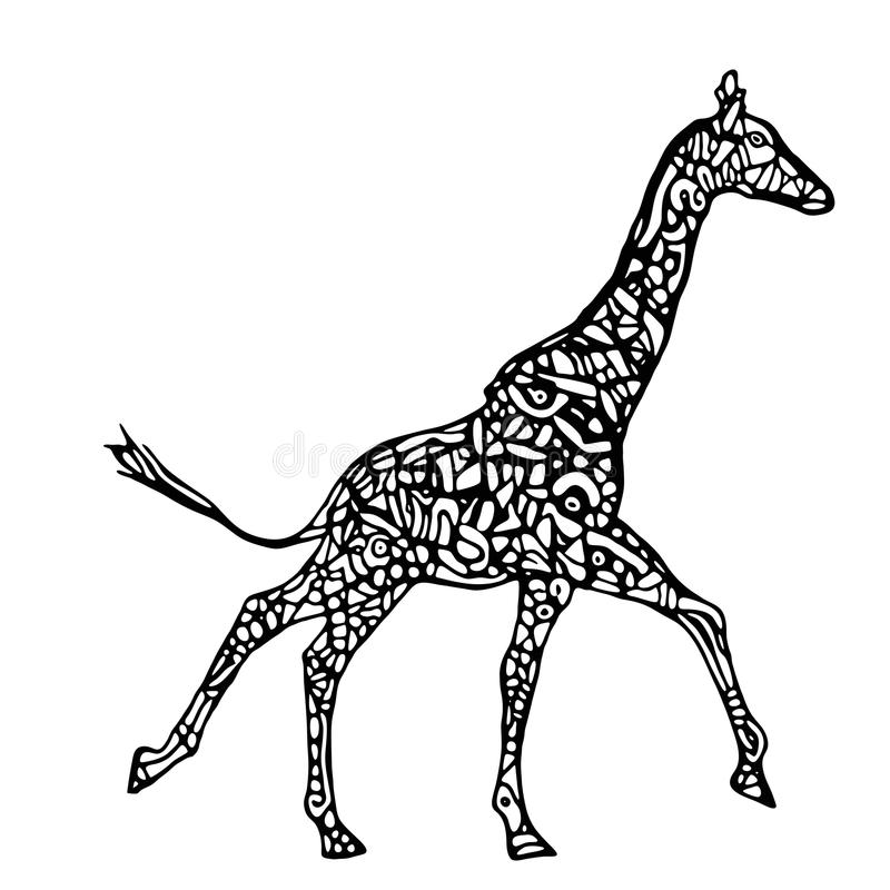 Vecteur courant de girafe illustration stock
