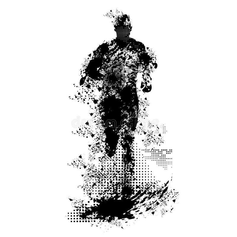 Vecteur courant grunge d'homme et transparent de png illustration de vecteur