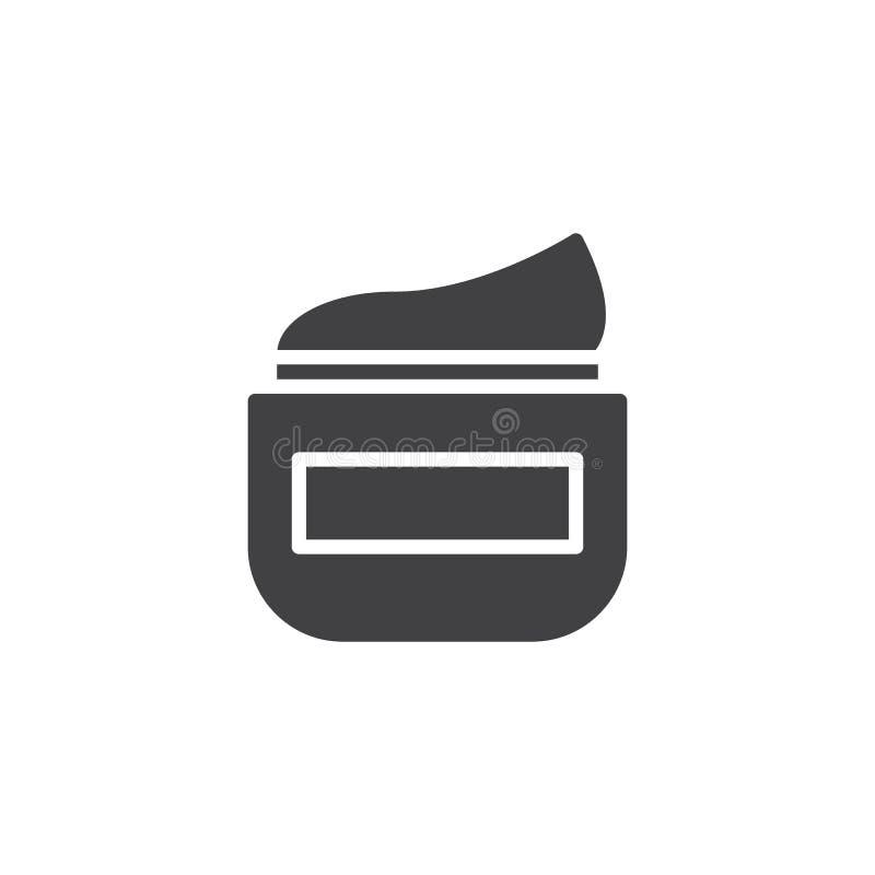 Vecteur crème d'icône de cheveux illustration de vecteur