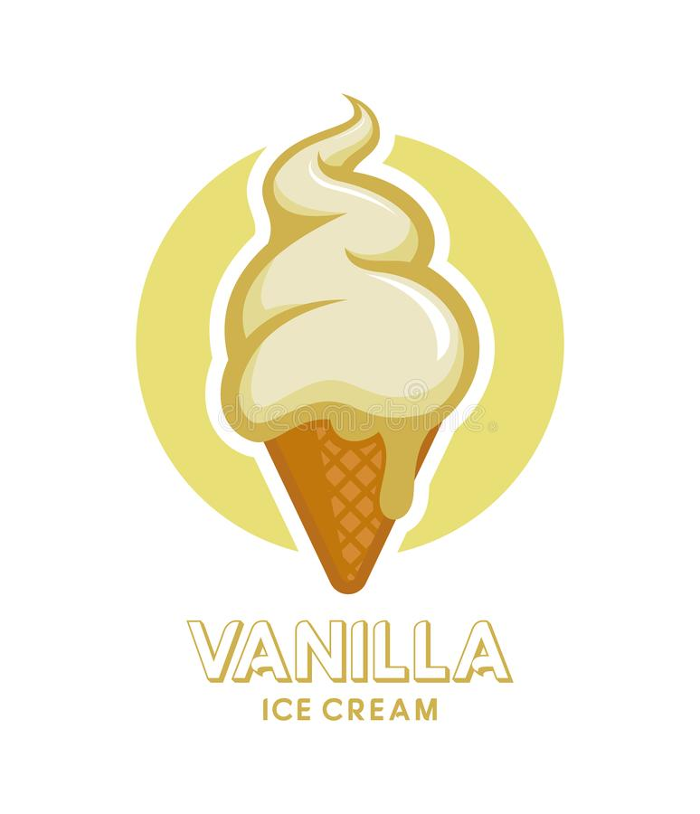 vecteur crème procurable de graphisme de glace illustration stock