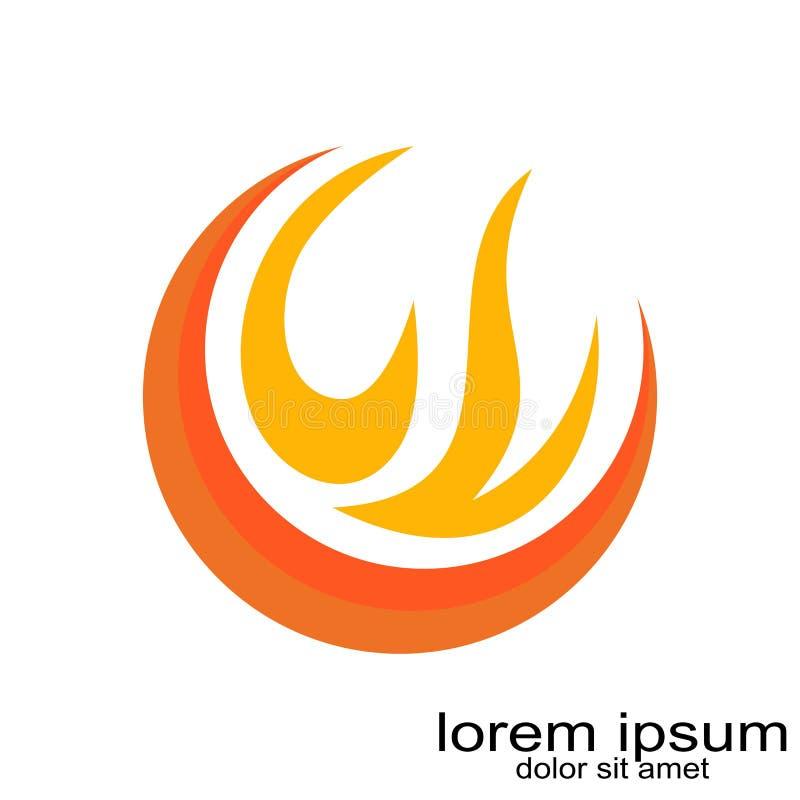 Vecteur créatif de logo du feu de conception d'échantillon illustration stock