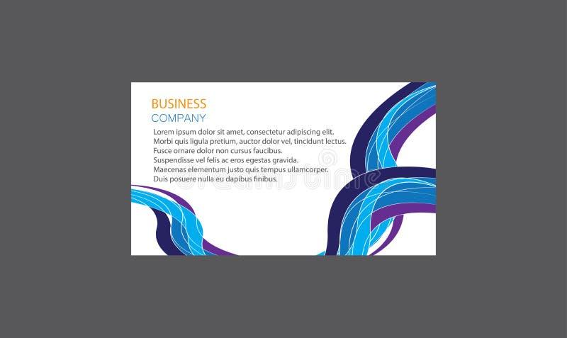 Vecteur cr?atif moderne cr?atif de design de carte d'affaires de Layout Clean Company de calibres de cartes de visite professionn illustration de vecteur