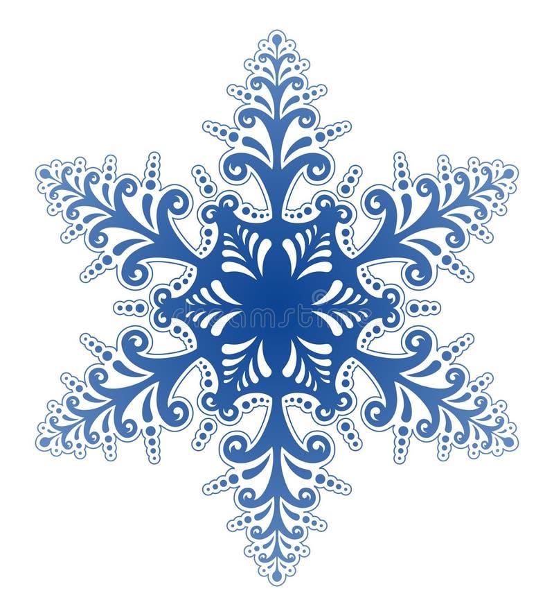 Vecteur décoratif d'ornement de flocon de neige illustration libre de droits