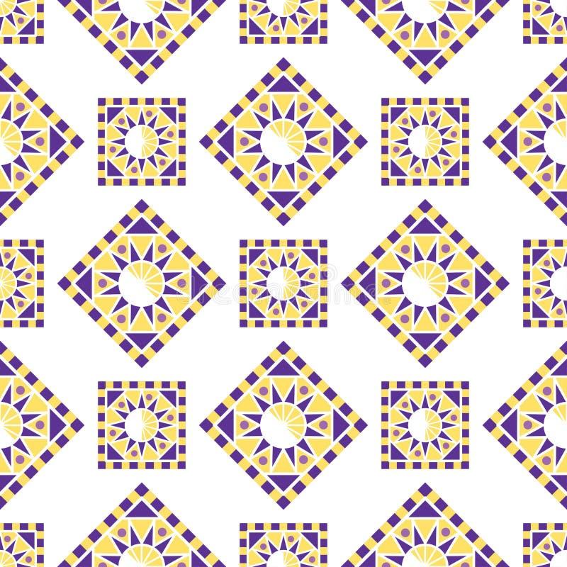 Vecteur décoratif de forme polygonale de kaléidoscope de la géométrie de modèle de cercle sans couture triangulaire abstrait de c illustration libre de droits