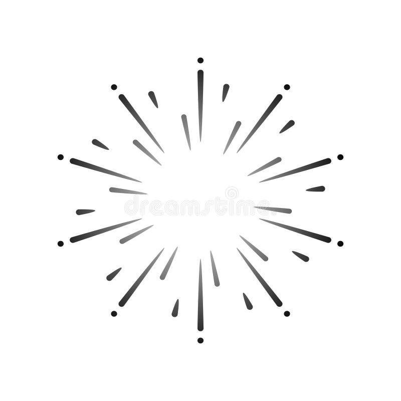 Vecteur d'élément de conception d'explosion de feu d'artifice illustration stock