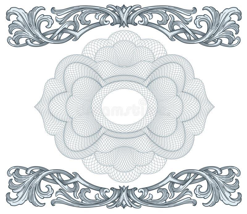 Vecteur d'éléments de conception de rosettes illustration de vecteur
