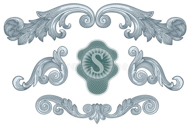 Vecteur d'éléments de conception du dollar illustration de vecteur