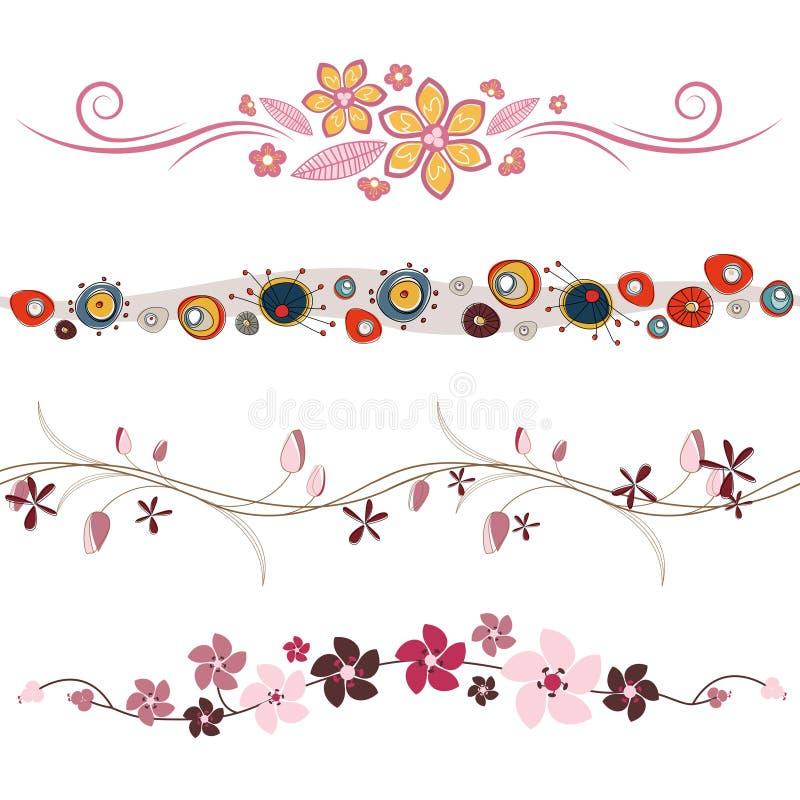 Vecteur d'éléments de conception florale illustration de vecteur