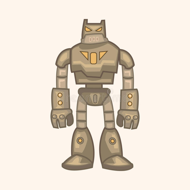 Vecteur d'éléments de thème de robot, ENV illustration stock