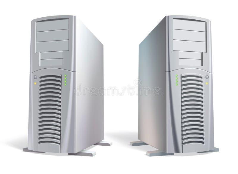 vecteur d'éléments présentable puissant de système d'ordinateur illustration stock