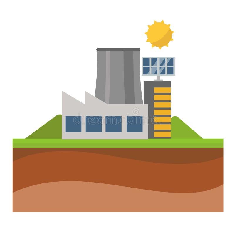 Vecteur d'énergie solaire de Sun illustration libre de droits