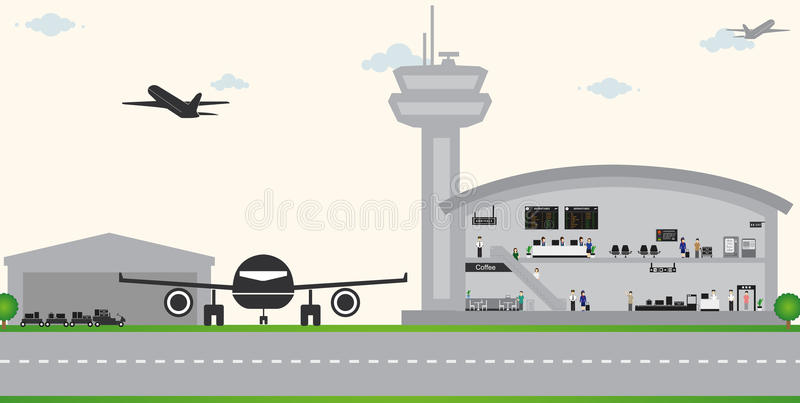 Vecteur d'aéroport illustration stock