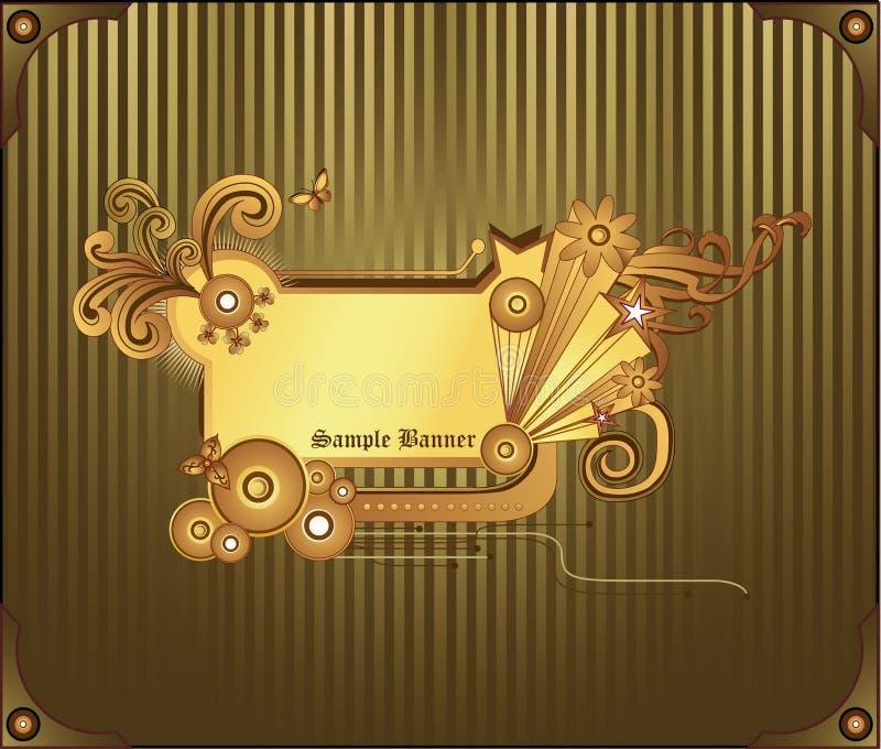 Vecteur d'abrégé sur or de drapeau illustration de vecteur