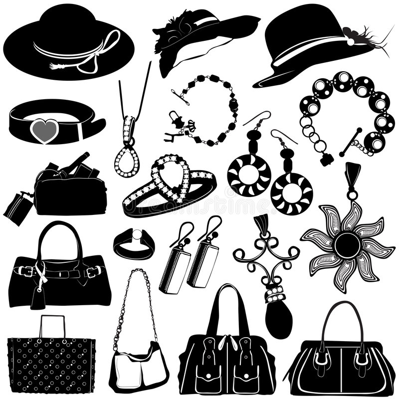 Vecteur d'accessoires de femmes illustration libre de droits