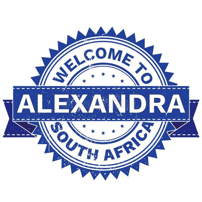 Vecteur d'ACCUEIL à la ville ALEXANDRA Country AFRIQUE DU SUD estampille collant Style grunge EPS8 illustration de vecteur