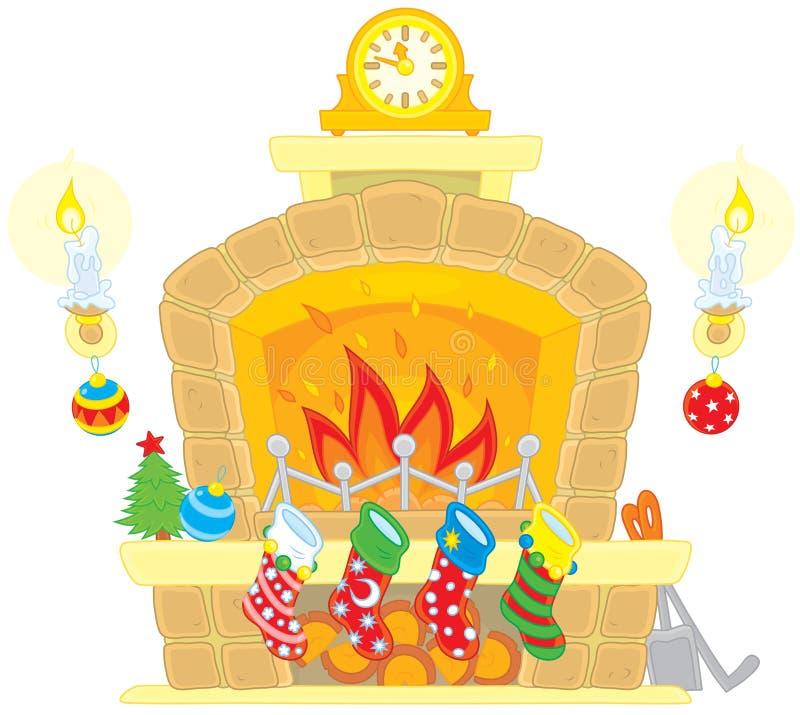 vecteur d'arbre d'illustration de format de cheminée de fichier des couples eps8 de Noël de dessin animé de fond d'AI illustration de vecteur