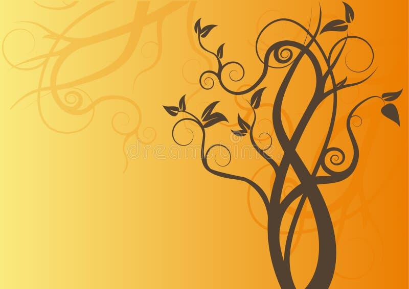 vecteur d'arbre de remous de conception illustration stock