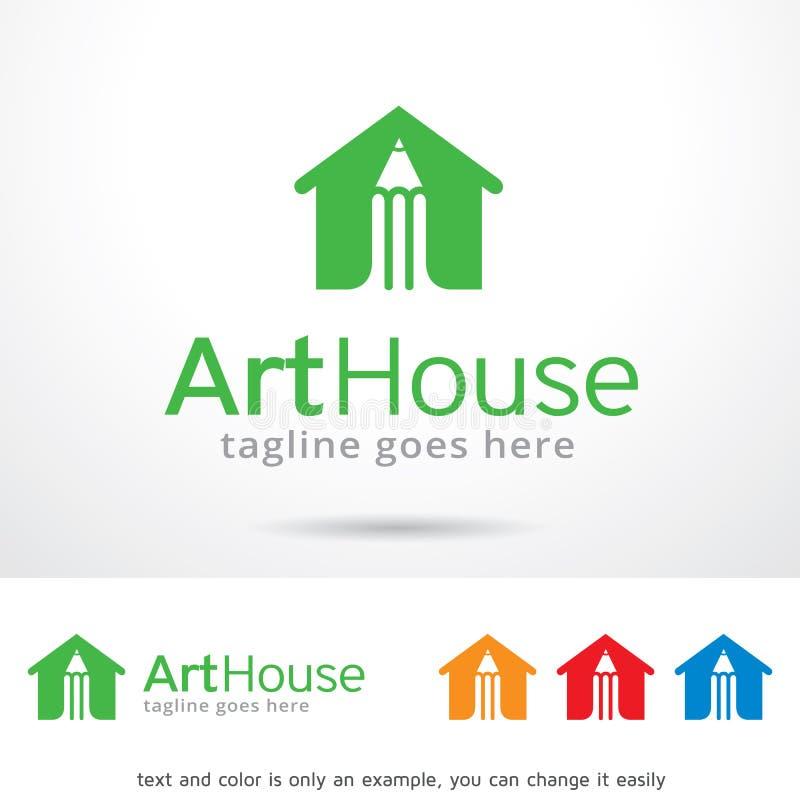 Vecteur d'Art House Logo Template Design illustration libre de droits