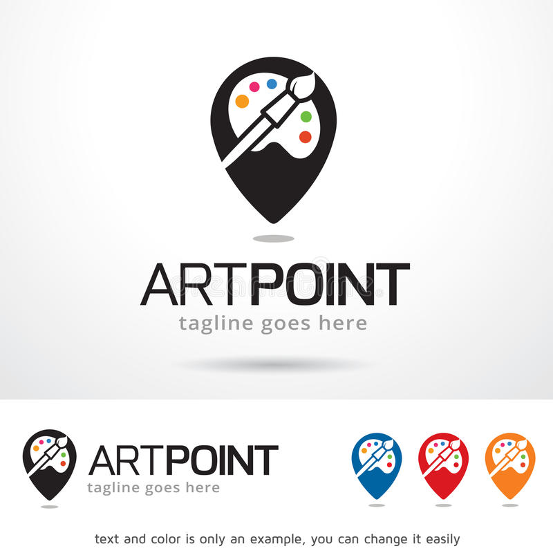 Vecteur d'Art Point Logo Template Design illustration libre de droits