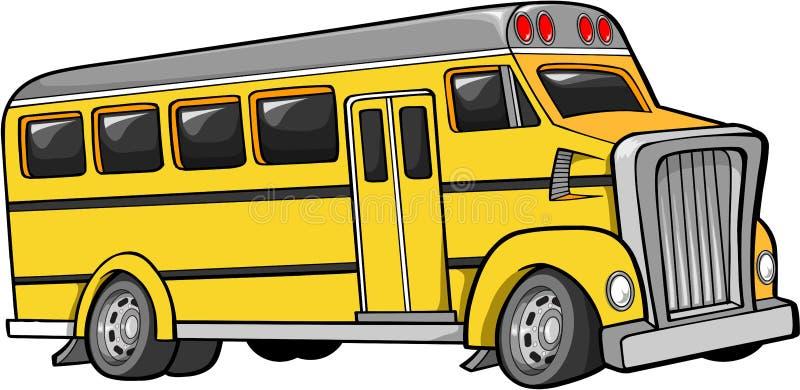 Vecteur d'autobus scolaire illustration stock