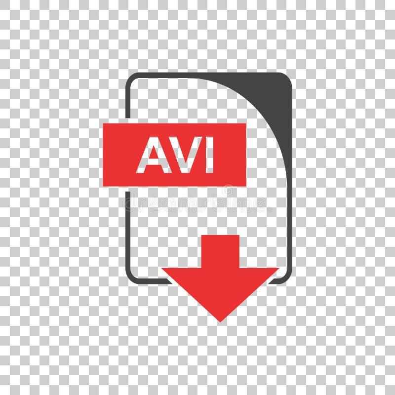 Vecteur d'AVI Icon plat illustration de vecteur