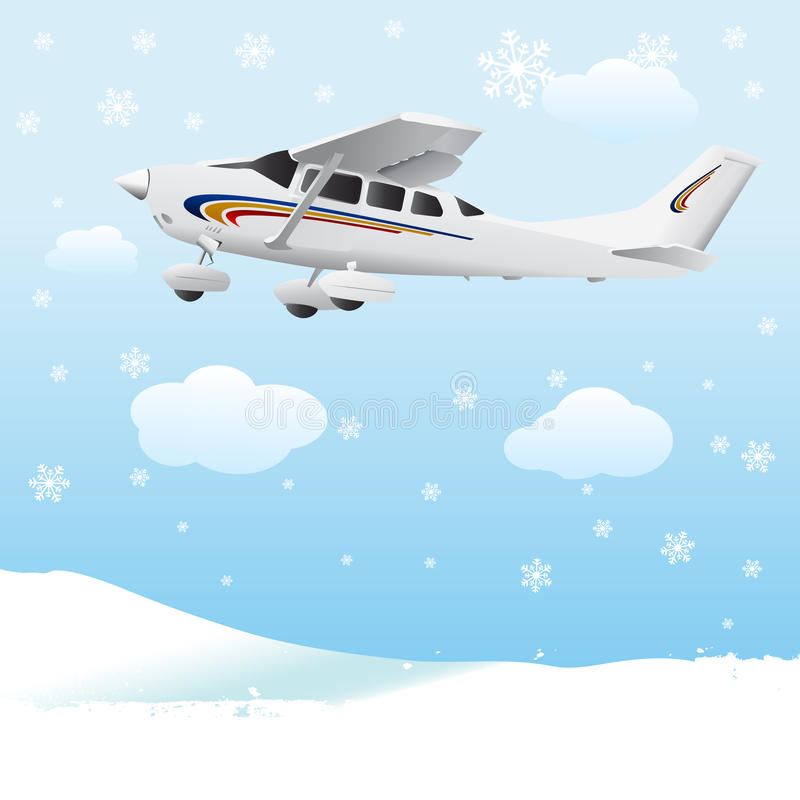 Vecteur d'avion illustration stock