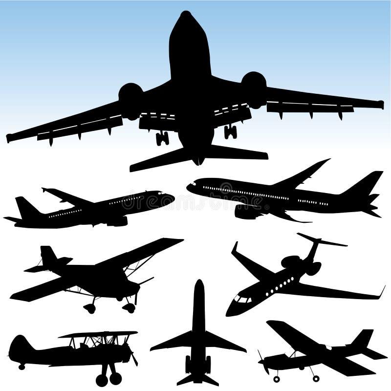 Vecteur d'avion illustration libre de droits