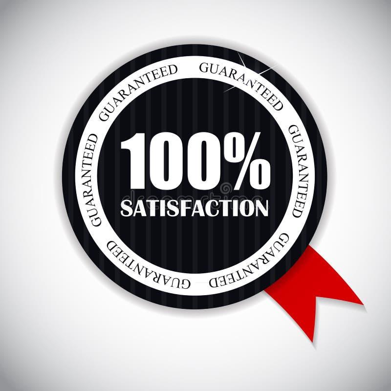 Vecteur d'or de satisfaction du label 100 % illustration libre de droits