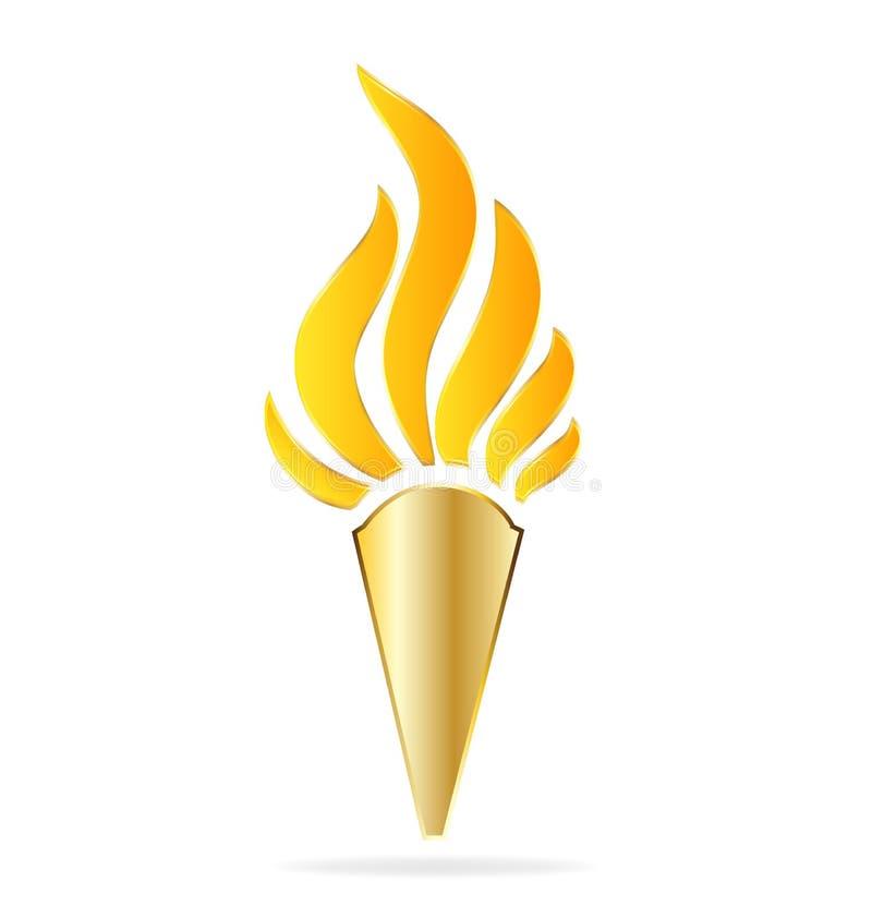 Vecteur d'or de torche illustration libre de droits