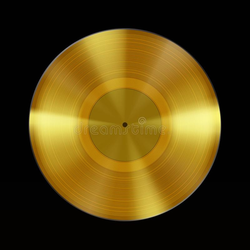 Vecteur d'or de vinyle illustration stock