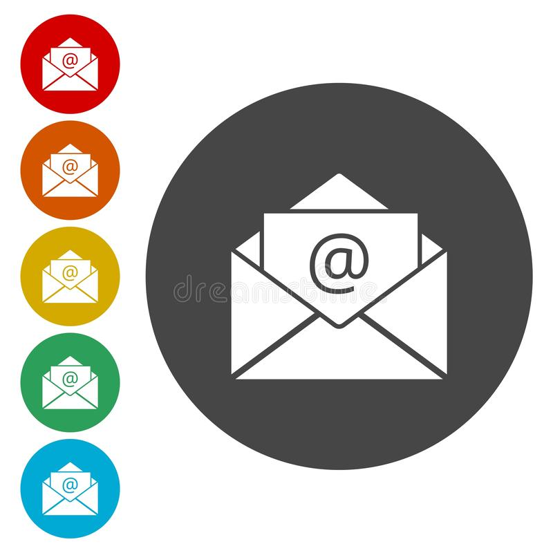 Vecteur d'email illustration stock
