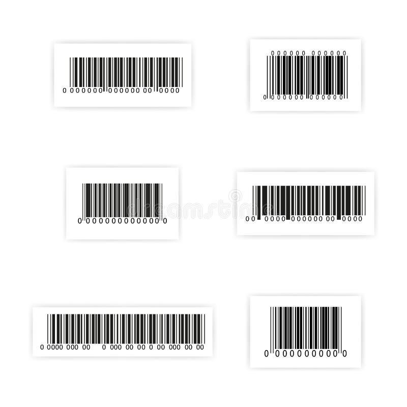 Vecteur d'ensemble d'autocollant de code barres illustration de vecteur