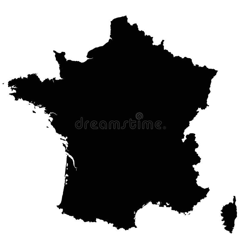 Vecteur d'ensemble de carte de Frances illustration de vecteur