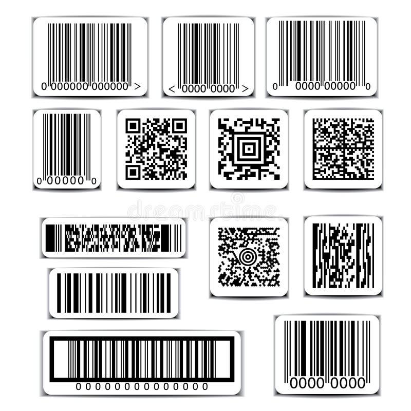 Vecteur d'ensemble de label de code barres illustration stock