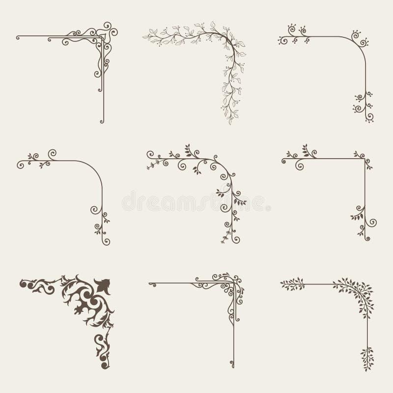 Vecteur d'ensemble faisant le coin décoratif de cadre illustration stock